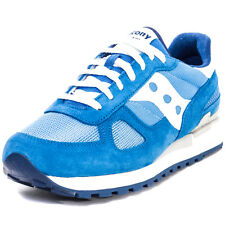 Saucony Shadow Orignal Mens Trainers Blue White New Shoes