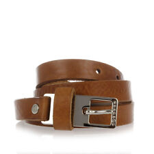 MARTIN MARGIELA MM11 Man Brown Leather Belt Made in Italy