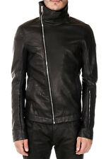 RICK OWENS New Men Black Leather BAUHAUS Jacket Lined NWT