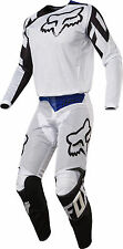 Fox Racing Mens White/Black 180 Race Airline Dirt Bike Jersey & Pants Kit Combo