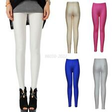 Sexy Women Faux Leather Stretchy Skinny Leggings Tight High Waist Slim Fit Pants