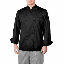 Chefwear 4100-30 Premier Executive Long Sleeve Chef Jacket, Black XS-5XL New !