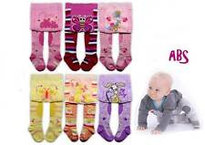 BABY GIRLS CRAWLING TIGHTS ANTI SLIP SOLE PANTS RUBBERIZED KNEES COTTON