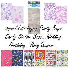 50 Birthday Party Wedding Candy Station Party Cello Treat Loot Gift Bags New