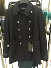 ZARA MILITARY WOOL SHORT COAT NAVY BLUE XS-XL REF. 7679/744