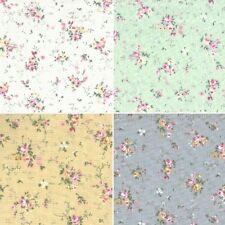 Sew Ditsy Tiny Rose Bunches Flowers 100% Cotton Fabric (FF)
