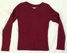 Royal Robbins Cotton Kick Back Crossover L/S V-Neck Shirt 62829 Fig Red NWT XS