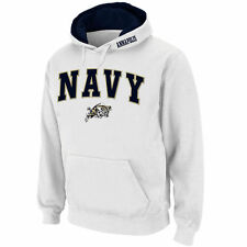 Stadium Athletic Navy Midshipmen White Arch & Logo Pullover Hoodie
