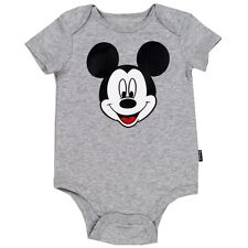 Disney Mickey Mouse Baby Classic One Piece Bodysuit Gray Size NB, 0-3, 3-6, 6-9