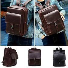 Men Leather Backpack Briefcase Laptop School Rucksack Shoulder Bag Messenger New