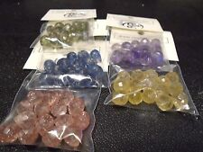 Assorted Colors Glass Briolette Crackle Glass Beads -15pcs.