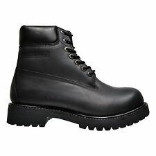 FUDA Men's High Top Waterproof Smooth Leather Construction Work Boots Black