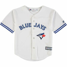 Majestic Toronto Blue Jays Preschool White Official Cool Base Team Jersey
