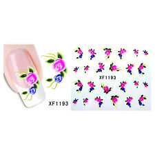 Beauty Nail Art Decals Transfers Stickers Water Transfer Stickers Flower Decals