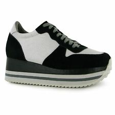 Jeffrey Campbell ZZ Turbo Platform Shoes Womens Black/Grey Trainers Sneakers