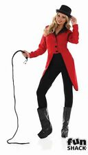 Circus Ringmaster Jacket Ladies Lion Tamer Tailcoat Fancy Dress Party Outfit