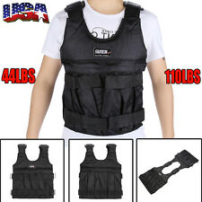 USPS 44/110LBS Adjustable Workout Weight Weighted Vest Exercise Training Fitness
