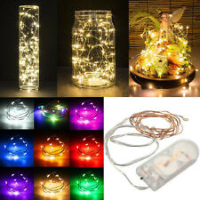 10 LED String Battery Operated Copper Silver Wire Fairy Lights Xmas Party