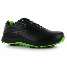 Dunlop Waterproof Leather Biomimetic 300 Golf Shoes Mens Black Golfing Footwear