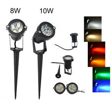8W 10W Garden Lamp 4/5 LED Spot Light Outdoor Lawn Landscape 6 Colors Lighting