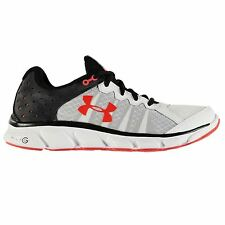 Under Armour Micro Assert 6 Running Shoes Mens White/Black Trainers Sneakers