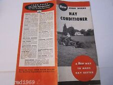 1956 John Deere Hay Conditioner Tractor Catalog Brochure LOTS More Listed