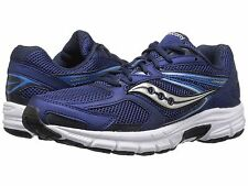 Saucony GRID COHESION 9 Mens Navy/Grey Running Shoes