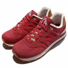 New Balance ML574NEC DCollegiate Red Powder Mens Suede Running Sheos ML574NECD