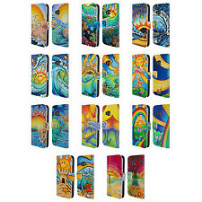 OFFICIAL DREW BROPHY SURF ART LEATHER BOOK WALLET CASE COVER FOR HTC PHONES 1