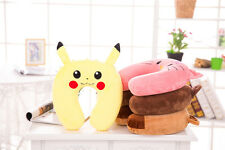 Pokemon Pikachu Eevee Brown Bear Neck U-Shaped Pillow Cushion Soft Plush Doll  P