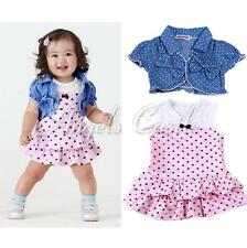 2PCS Infant Toddlers Girls Baby Tops Shawl +Tutu Dress Skirt Outfits Set Clothes