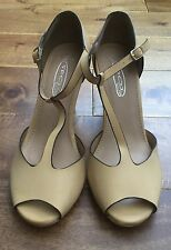 New Retro Vintage 40s 50s WW2 Landgirl Pinup Style Mary Jane Court Shoes Size 4
