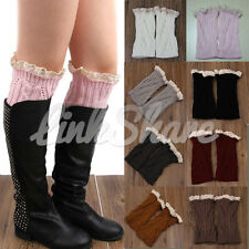 NEW Women Leg Warmers Socks Crochet Knit Boot Socks Toppers Cuffs mr