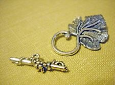 Toggle Clasps Grape Leaf Toggle Clasps Silver Gold Clasps Jewelry Findings
