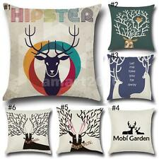 43cm Christmas Decorative Cushion Cover Reindeer Pillow Case Cushion Covers