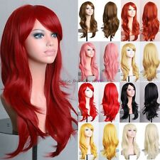 100% Real New Wigs Long Layer Full Hair Wig Cosplay Party Daily Fancy Dress D38