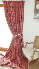 ZOFFANY EMPIRE DAMASK CURTAINS English Country House INTERLINED Grandiose Design