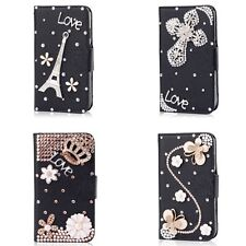Hot Sale Luxury 3D Bling Crystal Rhinestone Flip Wallet PU Leather Case Cover 02