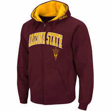 Stadium Athletic Arizona State Sun Devils Maroon Arch & Logo Full Zip Hoodie