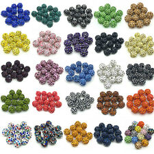 Wholesale lot micro pave disco crystal 25 colors shamballa beads bracelet spacer