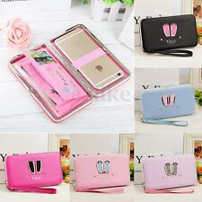 Women Lady Leather Wallet Purse Clutch Bag Credit Card Holder Phone Box Handbag