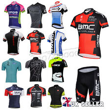New Mens Team Cycling Jersey Bib Shorts Kits Bicycle Casual Tops Short Sleeve