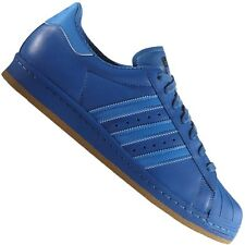 ADIDAS ORIGINALS SUPERSTAR 80s REFLECTIVE LEATHER SNEAKERS SHOES B35385 BLUE