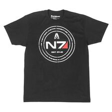 Mass Effect 1 2 3 4 N7 Cadet Tee T-Shirt Men Black LOGO - Size S M XL XXL 3XL