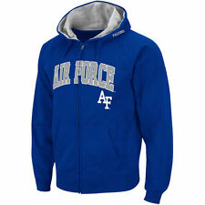 Stadium Athletic Air Force Falcons Royal Arch & Logo Full Zip Hoodie