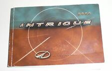 2000 00 OLDS Intrigue Factory Owners Manual ONLY