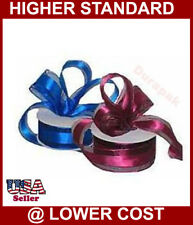 "1-1/2"" 25YD Organza Ribbon with Satin Edge All Color:Navy Blue++"