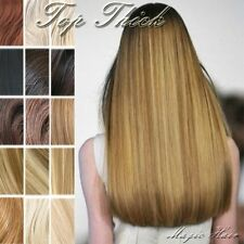 Blonde 160G Thick Double Weft Clip In Remy Human Hair Extensions Full Head SU227