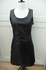 Black Leather Shift Dress; Helium, Size 10, 12, 14 or 16, BNWT