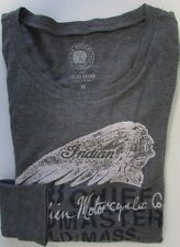 NWT Lucky Brand  T-Shirt Graphic Tee Indian Motorcycles Gray Grey Sz XS S M